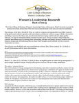 Women's Leadership Research Best of 2015