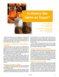 Is Honey the Same as Sugar? J t. k
