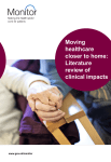 Moving healthcare closer to home: Literature review of