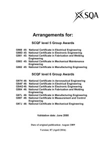 NC in Aeronautical Engineering at SCQF level 6