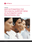 Case study ADP AutomAting the technicAl SuPPort