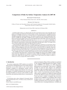 Comparisons of Daily Sea Surface Temperature Analyses for 2007–08 R W. R D