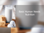 Basic Human Needs Nutrition