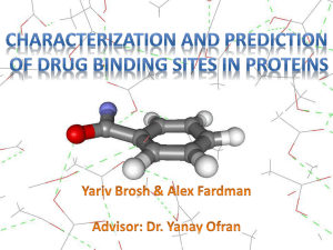 Characterization and prediction of drug binding sites in proteins