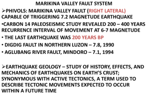 MARIKINA VALLEY FAULT