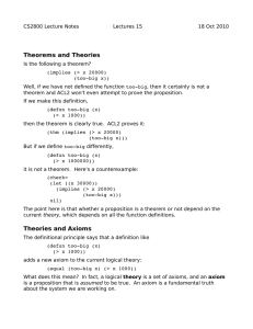 Theories.Axioms,Rules of Inference