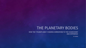 The Planetary bodies