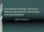 Community Ecology: Structure, Species Interactions, Succession