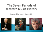 The Seven Periods of Western Music History