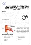 childhood fluctuating conductive hearing loss
