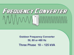 Outdoor Frequency Converter 50, 60 or 400 Hz Three Phase 10