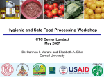 Fruit and Vegetable Food Safety Issues