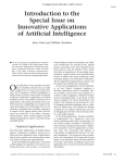 Introduction to the Special Issue on Innovative Applications of