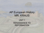unit 1 AP European HISTORY