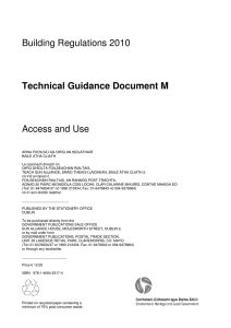 Building Regulations 2010 Technical Guidance Document M Access