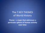 The 7 KEY THEMES of World History