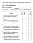types of evolution worksheet