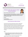 Welcome to the Latin American Affairs Section Newsletter Latin