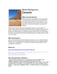 Biome Background: Deserts