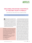 declining mountain snowpack in western north america