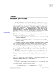 Poisson processes - Department of Statistics, Yale