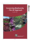 Conserving Biodiversity – The UK Approach