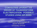 convective updraft as driver of thunderstorm electrification