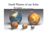 Small Planets of our Solar System (Pluto is a Dwarf Planet)