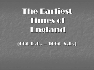 The Earliest Times of England