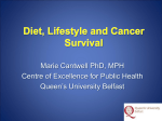 Overview of the role of diet in cancer survival