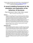 A causal modelling framework for the simulation and