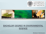 Bachelor Degree in Environmental science