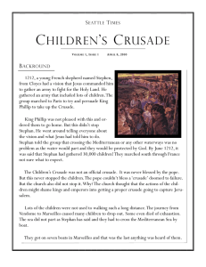 children`s crusade - Renata`s Digital Portfolio!