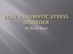 Definition Post Traumatic Stress Disorder
