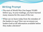 Causes of World War I and Reasons for United States Entry into the