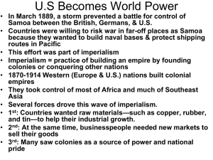 U.S. becomes world power revised