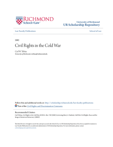 Civil Rights in the Cold War - UR Scholarship Repository