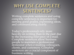 Five Parts of a Complete Sentence
