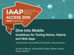 Dive Into Mobile Guidelines for Testing Native and Web Apps