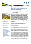 Capability Statement Biodiversity Conservation and Natural
