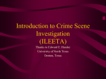 Intro to Crime Scenes