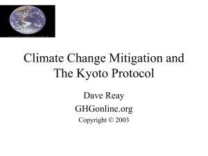 Climate Change Mitigation and The Kyoto Protocol