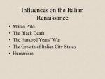 Influences on the Italian Renaissance