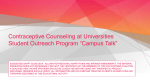 "Student Outreach Program ""Campus Talk"" - YOUR"