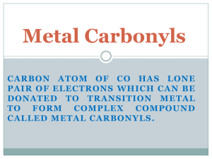 Metal carbonyl - WordPress.com