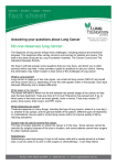 Answering your questions about Lung Cancer