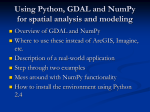 Using Python, GDAL and NumPy for spatial analysis