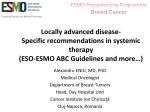 Locally advanced disease- Specific recommendations in systemic