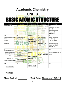p Atomic Structure notes packet 14_15