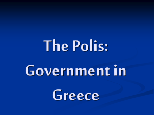 The Polis and Athenian Government